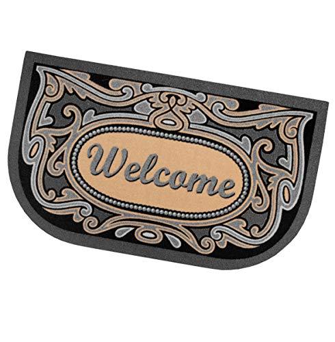 shabby welcome ARREDIAMOINSIEME-nelweb Zerbino Gomma Ingresso 40x70 SEMILUNA Welcome Retro Antiscivolo Esterno Interno casa MOD.Format 61