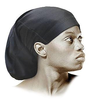 Black Spandex Dreadlock Skull Cap - Regular OSFM