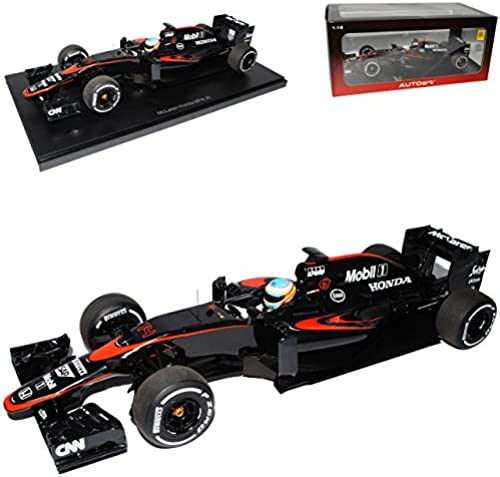 AUTOart McLaren Honda MP4-30 2015 Fernando Alonso Nr 14 Barcelona Spanien mit Fahrer 18121 1 18 Modell Auto mit individiuellem Wunschkennzeichen