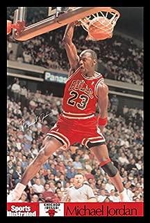 Buyartforless Framed Michael Jordan - Sports Illustrated Dunk Sports Art Print Poster, 36