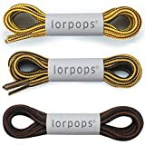 "Round Boot Laces [3 Pairs] Heavy Duty and Durable Shoelaces for Boots,Diameter: 3/16"" Work Boots & Hiking Shoes (55inch/140cm, Collocation B)"