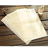 STOBOK - 40 pinceles de papel de caligrafía china, planta natural, flor y cepillo de papel de arroz, artesanía, hecho a mano, tela Xuan, papel para escribir