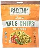 Rhythm Superfoods Organic Zesty Nacho Kale Chips, 2 Ounce, Pack of 12