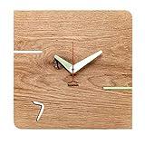 huamet. Orologio da Parete in Legno di Rovere, KONTUHR - Design Unico, Silenzioso e Senza ticchettio - Prodotto di Alta qualità Made in Alto Adige - CH51-D-02