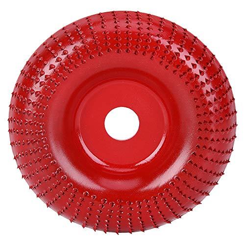 Muela abrasiva de 4.1 pulgadas disco de arco de lijado rojo rueda de molienda disco abrasivo de acero para madera