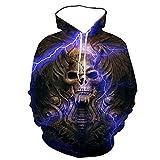 Hoodie Capucha Men and Women Winter Street Hoodie 3D Skull Pullover Sweatshirt Fashion Jacket Warm Hoodie-62223_S