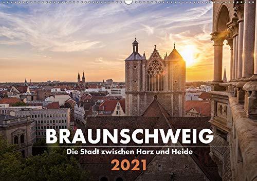 Braunschweig - Die Stadt zwischen Harz und Heide (Wandkalender 2021 DIN A2 quer): Die schönsten Perspektiven auf die Stadt Heinrichs des Löwen. (Monatskalender, 14 Seiten ) (CALVENDO Orte)