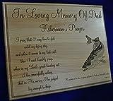 Sympathy Gift | In Loving Memory | Memorial Gifts | Memorial | Funeral Gift | Personalized Memorial Plaque | Psalm 23:2 | Memorial for Fisherman | Fisherman's Prayer