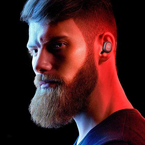 Auriculares TWS Bluetooth 5.0 SoundPEATS Truefree+ Cascos Inalámbricos In-Ear True Wireless Invisibles Sonido Estéreo Mini Audífonos Gemelos Manos Libres con Micrófono con Estuche de Carga (Negro)