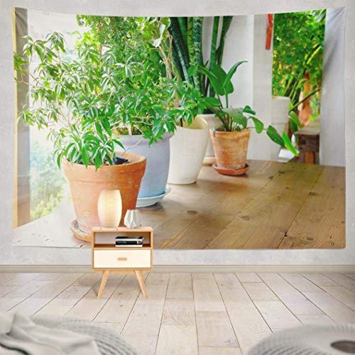 Wandteppich,Pflanzen Wandteppich, Pflanze Home Raumdekoration Blume Gartenhaus Skandinavisch Küche Wandbehang Wandteppich Wandkunst Pflanzen