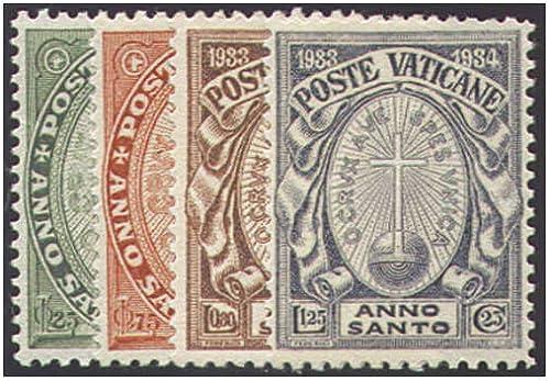 Goldhahn Vatikan Nr. 17-20 postfrisch  Heiliges Jahr 1933  Briefmarken für Sammler