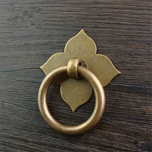 Manijas Clásicas de Estilo Chino 5 x Tiradores de manijas de anillo de gota de bronce antiguo vintage retro, tiradores, manijas de latón de estilo chino tradicional for puerta de cajón de gabinete de