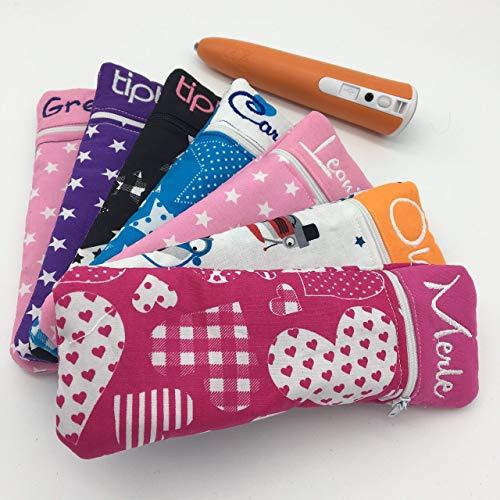 Tasche für den tiptoi Stift | WUNSCHNAME | viele Stoffdesigns zur Auswahl | tiptoi tasche Zubehör tiptoi | Schutzhülle | Case | Handmade | aus Deutschland | tolles Geschenk