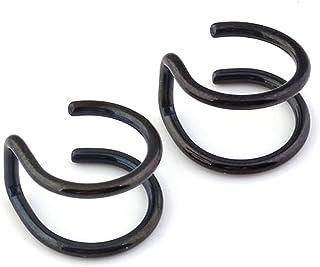 HOMEYU 6 Paires de Clips doreilles en Acier Inoxydable Non perforantes Helix Cartilage Boucles doreilles Oreille Oreille OS Bones Unisexe 6 Styles
