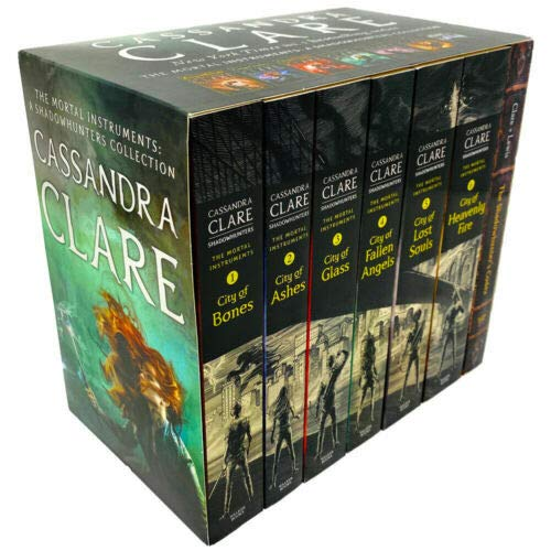 Cassandra Clare The Mortal Instruments A Shadowhunters 7 Books Collection Set (Bones, Ashes, Glass, Fallen Angels, Lost Souls, Codex and More)