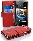 Cadorabo Hülle für HTC Desire 500 - Hülle in Inferno ROT