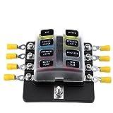 KKmoon Fusibili a scatola a 8 vie con portafusibili Fusibili con indicatore LED 10Pcs Fusi...