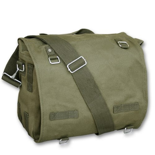 Mil-Tec Sac Messenger Besace Musette à Bandoulière US Army - Coloris Kaki - Airsoft - Paintball - Outdoor - Moto - Chasse - Pêche - Randonnée