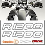2X R1200 for BMW Motorrad R 1200 GS ADESIVI Pegatina Stickers AUTOCOLLANT AUFKLEBER VINIL Motorcycle r1200gs (White)