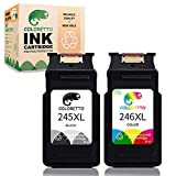 COLORETTO Remanufactured Printer Ink Cartridge Replacement for Canon Pg-245Xl Cl-246Xl PG-243 CL-244 to use with Canon PIXMA MX492 MX490 IP2820 MG2420 mg2522 TS3122 (1 Black+1 Color) Combo Pack