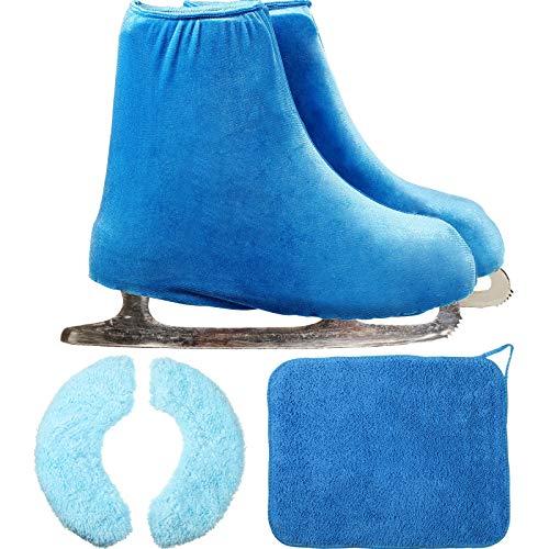 BBTO Schlittschuh Abdeckungen, Schlittschuh Wischen Pflege Kit und Eislaufen Stiefel Abdeckungen Schlittschuh Schutz Set vor Rosten und Abplatzen (Medium)