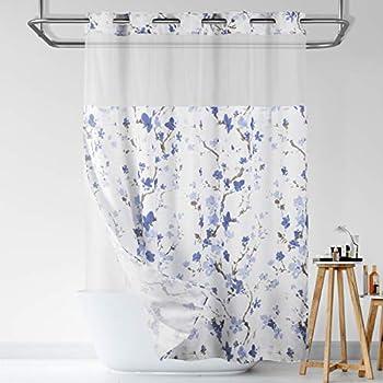 Lagute SnapHook Hook Free Shower Curtain