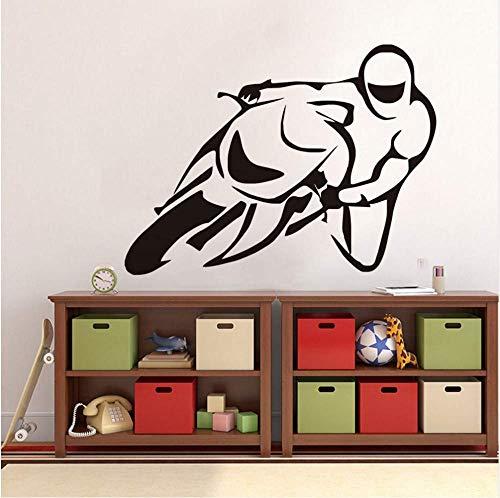 DLC Motorrad Stunt Wandaufkleber Motorrad Poster Wandtattoo Vinyl Kinderzimmer Kunst Wallpaper Diy Home Decor Fashion59 * 44Cm