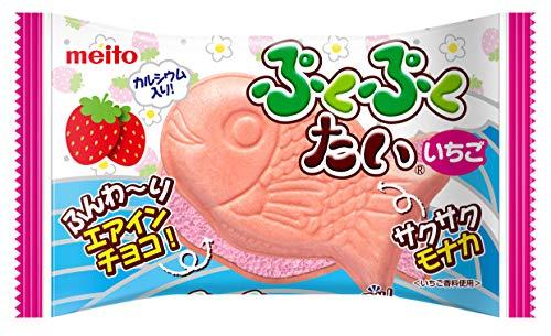 名糖産業 ぷくぷくたいいちご エアインチョコ 1個×10袋