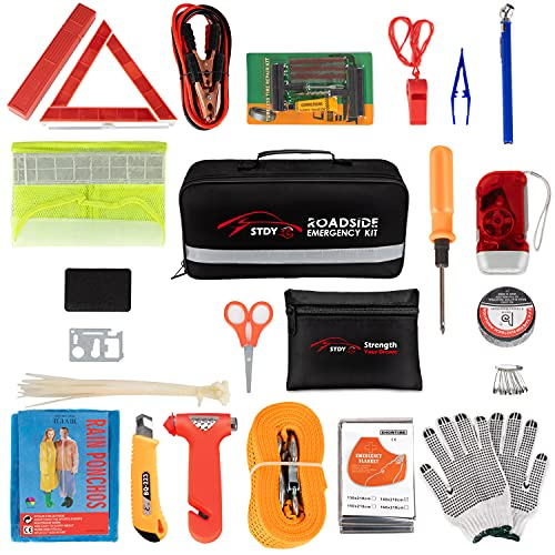 Product Image of the STDY Car Roadside Emergency Kit, Auto Vehicle Truck Safety Emergency Road Side...