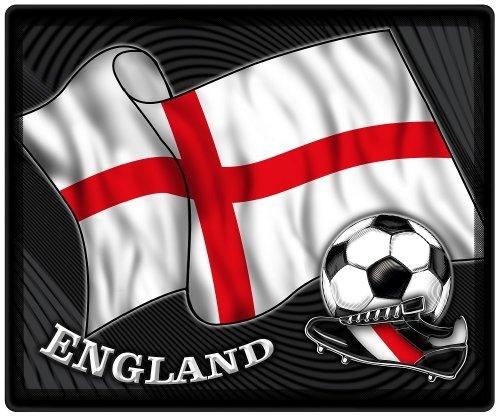 Muismat muismat met motief - Engelse vlag voetbal voetbalschoenen - 83189 - maat ca. 24 x 20 cm.