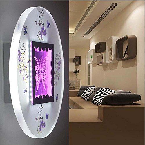 NIHE Accueil mode éclairage exquis lampe acrylique mur du couloir de salon de chambre LED