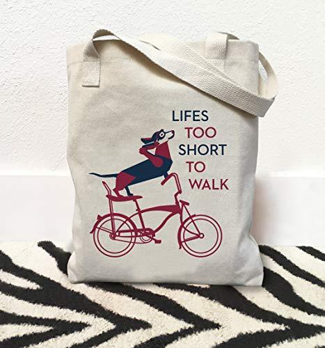 Dachshund Tas Dachshund Hond Dachshund Lover Gift Tas met Honden Fietstas Bike Lover Gift Life is Korte Fietsen Art Hond Supply Tas