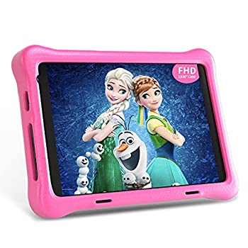 Hyjoy 8 inch Kids Tablet 1920 X 1200 IPS FHD Display Android 10 Tablet PC 2GB RAM 32GB Storage WiFi Bluetooth Dual Camera Games Parental Control Kidoz Installed With Kids-Tablet Case  Pink