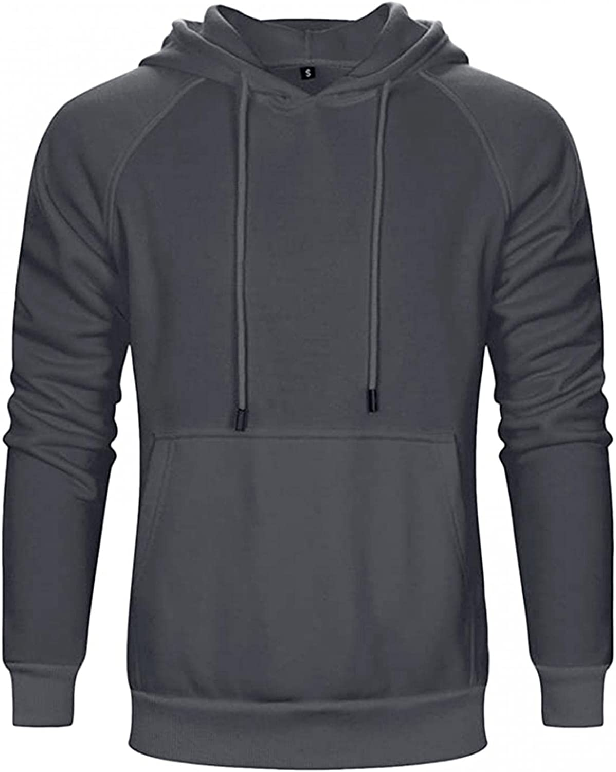Qsctys Men's Fashion Hoodies Fleece Crewneck Sweatshirts Hooded Pullover Slim Fit Casual Long Sleeve Sports Fitness Clothing