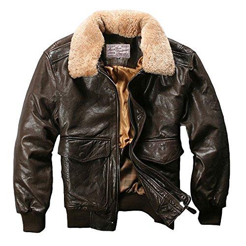 Avirex fly Chaqueta de cuero genuino de los hombres de la chaqueta de la piel de oveja de la chaqueta