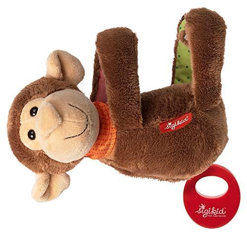 sigikid, Mädchen und Jungen, Hängespieluhr Affe mit austauschbarem Spielwerk, Babyspielzeug, empfohlen ab 0 Monaten, braun, 42419