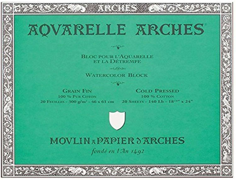 edición limitada Arches Aquarelle Paper Block - 18x24in (46x61cm) (46x61cm) (46x61cm) NOT (Fin) by Arches  barato