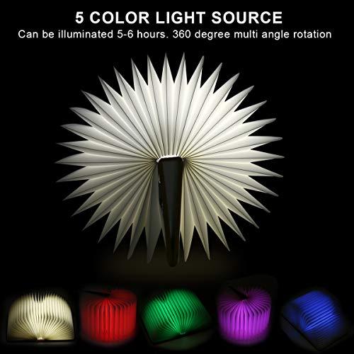 Aibesser Faltbare Buch Lampe LED Buchlampe PU-Leder - 3