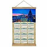 Italia Matera Imprimir Póster Calendario de Pared 2021 12 Meses Pintura decorativa Cuadros Colgantes Lienzo Madera 20.4 'x 13.1' GL-Italy-3164