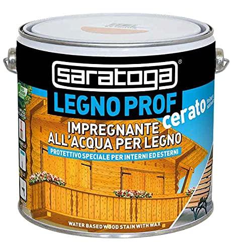 Saratoga impregnante all acqua per legno per interni ed esterni LEGNO PROF CERATO lt. 2,5 (Incolore)