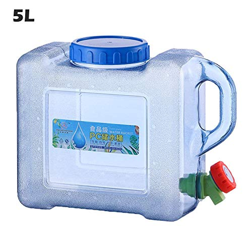 starter Dispensador De Botella De Agua De Plástico Reutilizable Portátil Sin BPA Portátil De 5L / 8L Contenedor De Jarra De Galón con Grifo