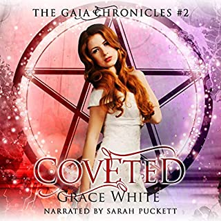 Coveted: A Reverse Harem Urban Fantasy Romance     The Gaia Chronicles, Book 2              Written by:                                                                                                                                 Grace White                               Narrated by:                                                                                                                                 Sarah Puckett                      Length: 5 hrs and 16 mins     Not rated yet     Overall 0.0