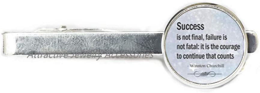 Wklo0avmg Success is not Industry No. 1 gift Final Jewelery Quote Tie Charm Clip
