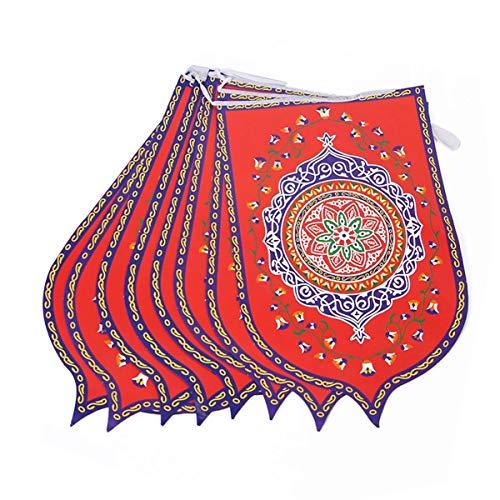 8 Stks/set Ramadan Vlag Islamitische Arabische Bunting Vlaggen Eid Mubarak Party Decoraties Banner