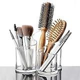 JEEJEX Acrylic Cosmetic Organizer Makeup Brush Holder Acrylic Makeup Brush Nail Polish Lipstick Eyeliner Comb Beauty Storage Holder Desk Rake Stand Organizer Dressing Table Beauty Cosmetic Holder