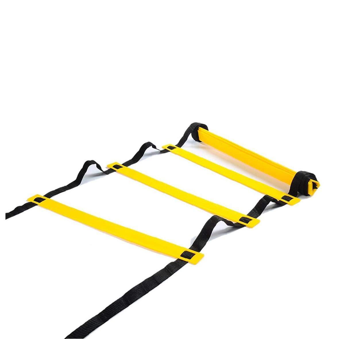 6 M Velocidad Y Agilidad Escalera - Entrenamiento Equipo -Ladder para El Ejercicio De Fútbol Entrenamiento De La Aptitud Pies: Amazon.es: Deportes y aire libre