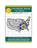 Volume 17 - USA State Maps Adult Coloring Book – 11 Single-Sided Pages, Thick paper, Lay Flat Spiral Bound, Hand Drawn stress relieving patterns for all