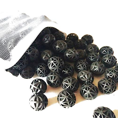 Aquarium 50PCS 1.4 Inch /200PCS 0.6 Inch 1.0 Inch Filter Media Bio Balls for Canisters Filters and Fish Tanks (16 MM 0.6 Inch)
