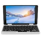 2 En 1 Mini portátil+tableta, computadora de desbloqueo de huellas dactilares con pantalla IPS táctil Full HD de 7 pulgadas, 8G+256G, 360 grados giratorio, para sistema Win 10(ENCHUFE DE LA UE)