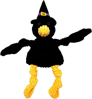 Hugglehounds Halloween Knottie Crow Dog Toy